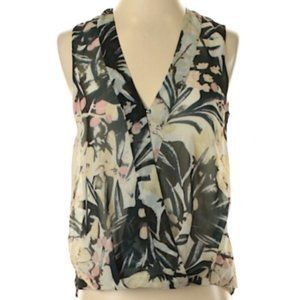 🌿H&M Floral Sleeveless Floral Wrap Top [12]🌿